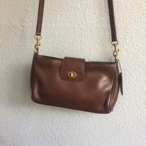 Coach, Vintage, Brown Leather Crossbody